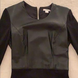 Helmut Lang black leather dress